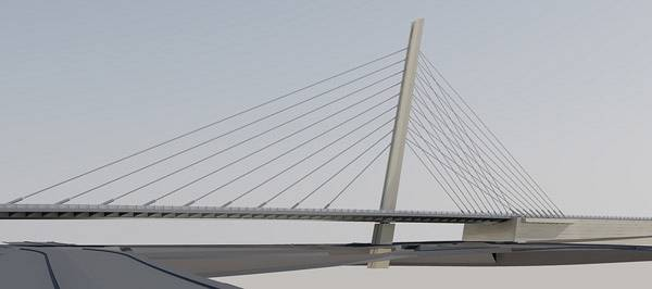 cable stayed bridge and road exchange sidi-maarouf - casablanca / moroco