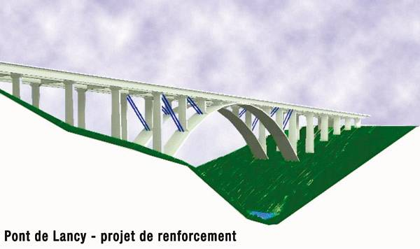 reinforcement of the lancy bridge